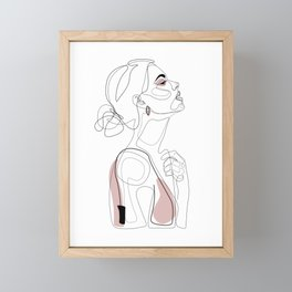Blush Beauty Framed Mini Art Print