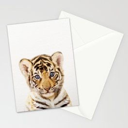 Baby Tiger, Baby Animals Art Print By Synplus Stationery Cards