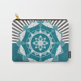 Don't Mess With Your Rising Sun (Teal) Carry-All Pouch