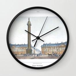 Paris art print Paris Decor office decoration vintage decor PLACE VENDOME of Paris Wall Clock