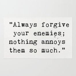 Oscar Wilde quote about enemies Rug