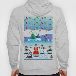 Festive Block Party Clear Skies, Christmas and Holiday Fantasy Collection Hoody