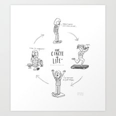 The circle of losing weight Art Print