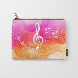 Watercolor, Musical Notes, watercolor t-shirt, watercolor sticker Carry-All Pouch