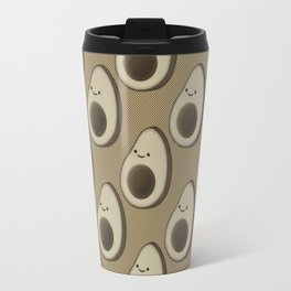 Vintage Style Avocado Pattern Travel Mug