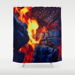 Firewood Shower Curtain