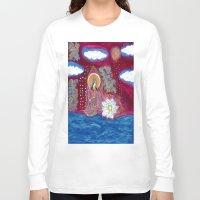 budi satria kwan Long Sleeve T-shirts featuring Offerings-Kwan Yin by J. Lashua Art