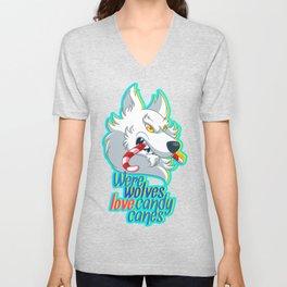 Werewolves love candy canes Unisex V-Neck