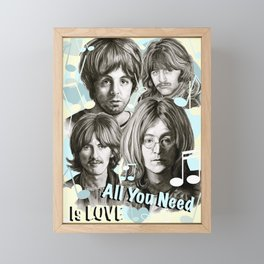 All You Need Is Love Framed Mini Art Print