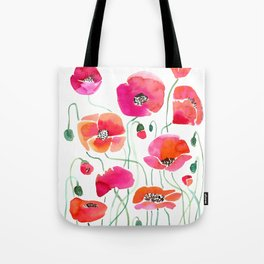 Wild Poppies Light Tote Bag