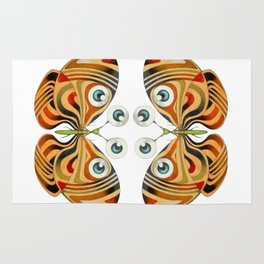 four eyes butterfly (ORIGINAL SOLD). Rug