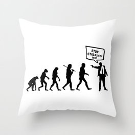 Evolution Stalker Throw Pillow