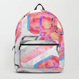 Pink Viola Hybrid Flower Abstract Art Watercolor Backpack