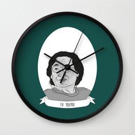 Tu Youyou Illustrated Portrait Wall Clock
