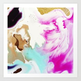 Happiness Ever Abstract Watercolor Painting Art Print