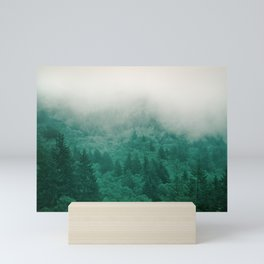 Misty Moody Mountain Forest Fog Northwest Oregon Washington Mini Art Print