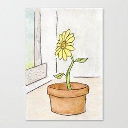 Flower Yellow Canvas Print