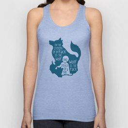 Strength of the Pack - Wolf and Child Unisex Tank Top
