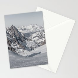 Mountain peaks - Mont Blanc serie 4 - rocks and snow Stationery Cards