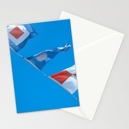 Nautical Flags Flying Stationery Cards