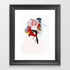 When Geeks Wed Framed Art Print