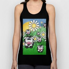 Cows & Daisies  Unisex Tank Top