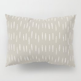 Boho Prints, Raindrops, Beige, Minimalism, Abstract Art Pillow Sham
