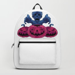Child Ghost And Pumpkin Backpack