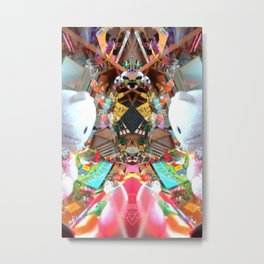 toy shop Rorschach symmetry caleidoscope Metal Print