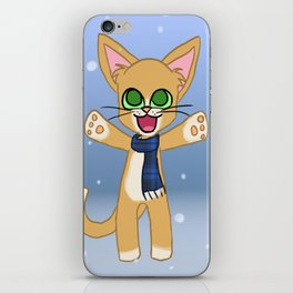 Happy Cat Winter style iPhone Skin