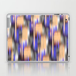 abstract ikat in mild orange and periwinkle blue Laptop & iPad Skin