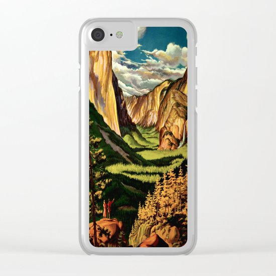 Yosemite National Park - Vintage Travel Clear iPhone Case