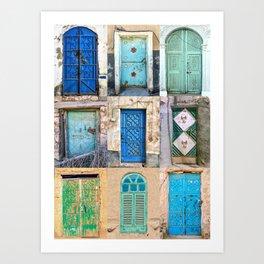 Nine Saudi Doors  Art Print