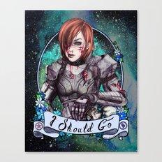 I Should Go (color) Canvas Print