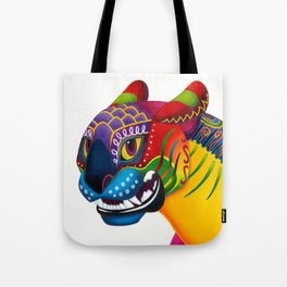 Oaxacan Big Cat Mini-Bust Tote Bag