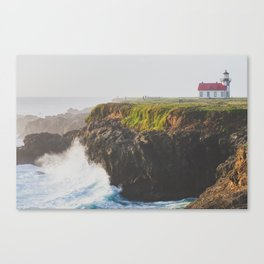 Violent Seas Near Point Cabrillo Light Canvas Print