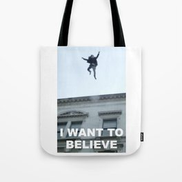 I Want to Believe in Sherlock Holmes Tote Bag