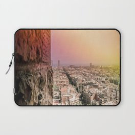 Colorful Rainbow View from Sagrada Familia over the Old City of Barcelona Laptop Sleeve