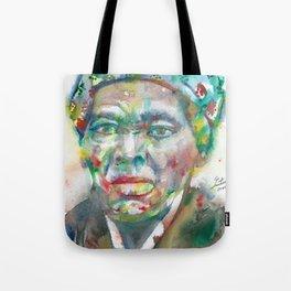 HARRIET TUBMAN watercolor portrait Tote Bag