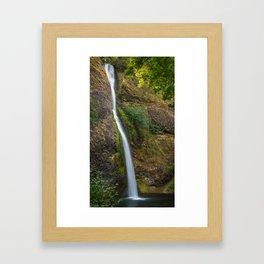 Horsetail Falls in Oregon's Columbia River Gorge Framed Art Print