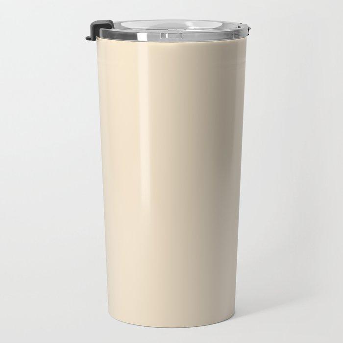 White and Champagne Orange Vertical Halves Travel Mug