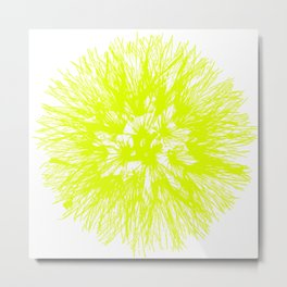 Make A Wish Dandelion Vector In Yellow Metal Print