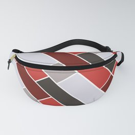Diagonal Red tiles and blocks Fanny Pack