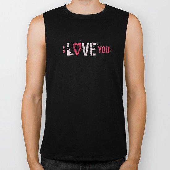 I love you II Biker Tank