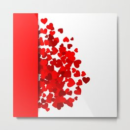 Hearts falling out of an envelope Metal Print