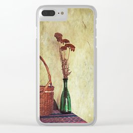 Still Life with Yarrow Clear iPhone Case