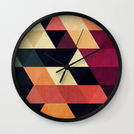 Cosmetic triangles Wall Clock