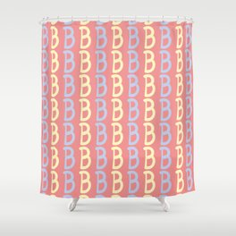 Hand Written Capital Letter B Pattern Shower Curtain