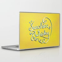 whiskey Laptop & iPad Skins featuring Sunshine & Whiskey by Yellow 13