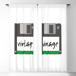 Vintage Floppy Disk Blackout Curtain